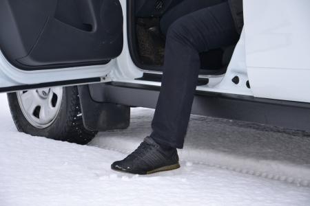 """Защита порогов """"Чистые штаны"""" Renault Duster (черное тиснение)"""